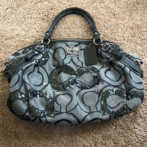 Beautiful Coach Sequin Satchel Bag